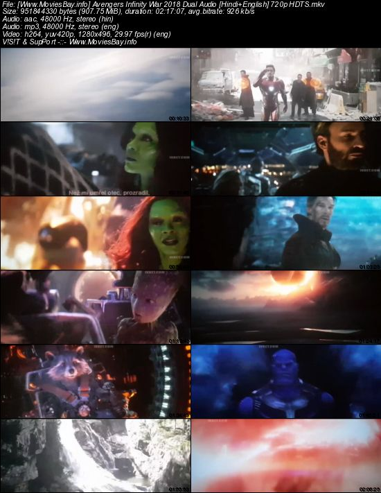 Avengers Infinity War 2018 Dual Audio [Hindi+English] 720p HDTS worldfree4u