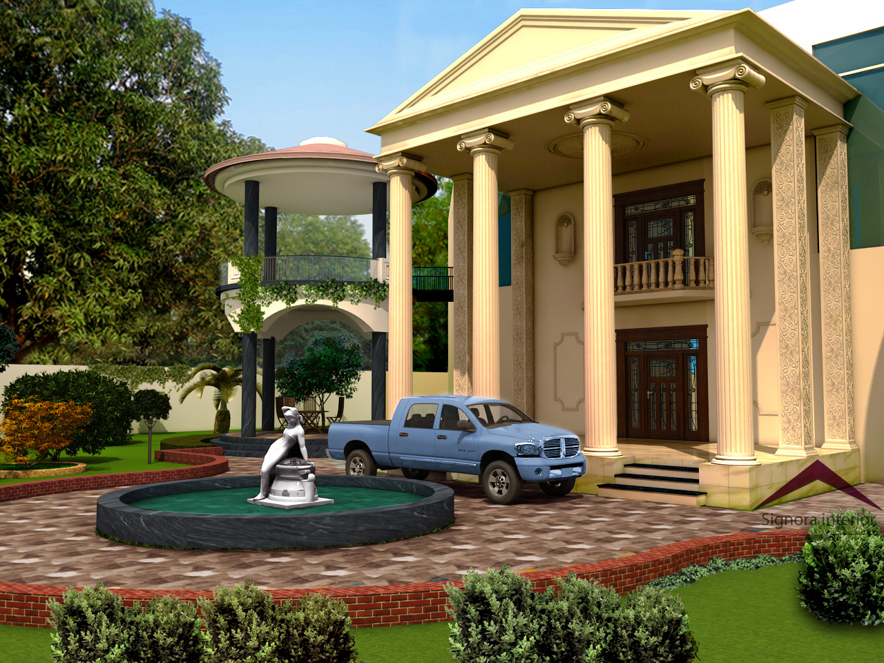 Exterior with landscaping design | World Popular things on