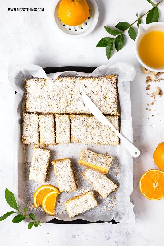 Orange Bars, Orangen Müsli Schnitten Rezept