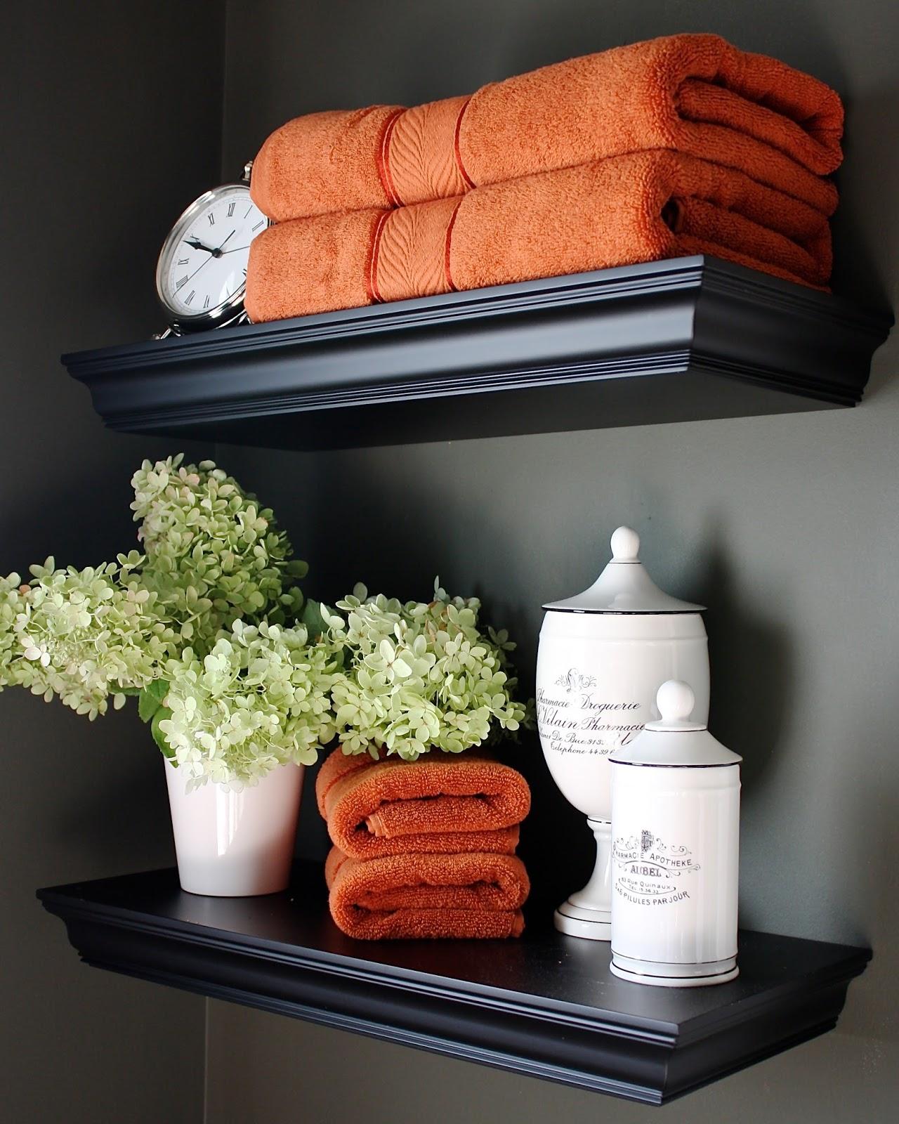 Bathroom Shelf above Toilet Decor Ideas