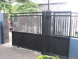Pintu pagar dorong atau geser