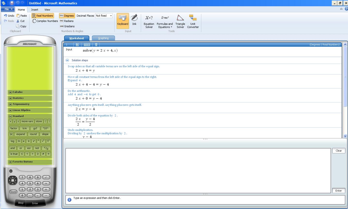 Software Review Microsoft Mathematics 4 0