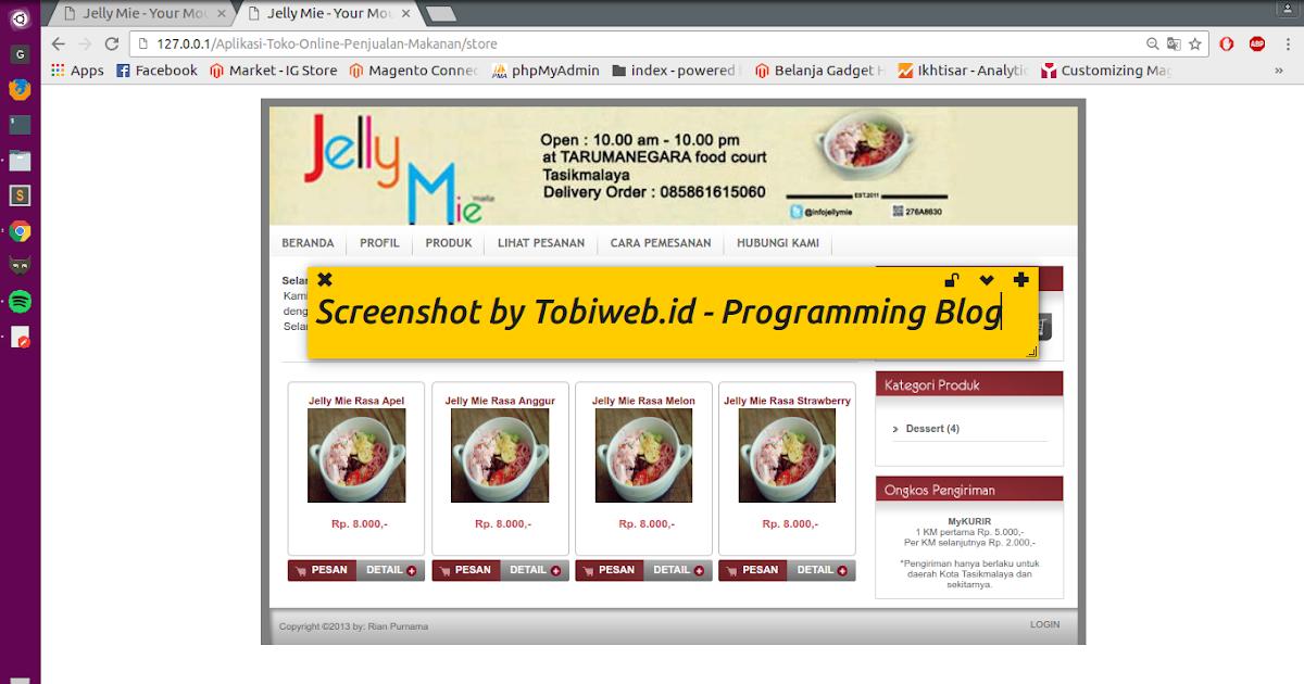 Cara Mudah Buat Toko Online Penjualan Makanan Dengan PHP