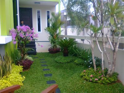 taman rumah minimalis depan rumah