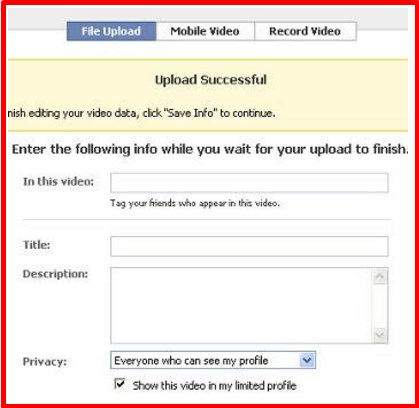 how to upload a video on facebook browser
