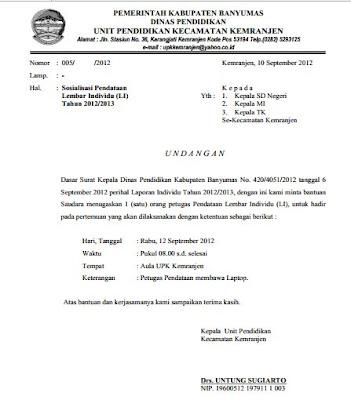 Contoh Surat Undangan Sosialisasi Resmi Kepada Kepala Sekolah Se