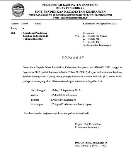 Contoh surat undangan sosialisasi resmi kepada kepala sekolah se contoh surat undangan sosialisasi resmi kepada kepala sekolah se kecamatan stopboris Gallery