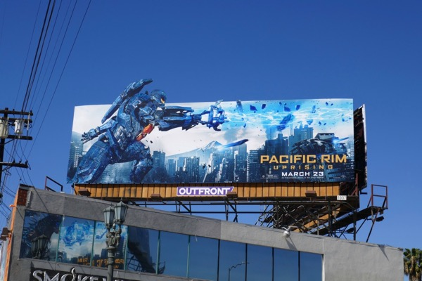 Pacific Rim Uprising Jaeger billboard
