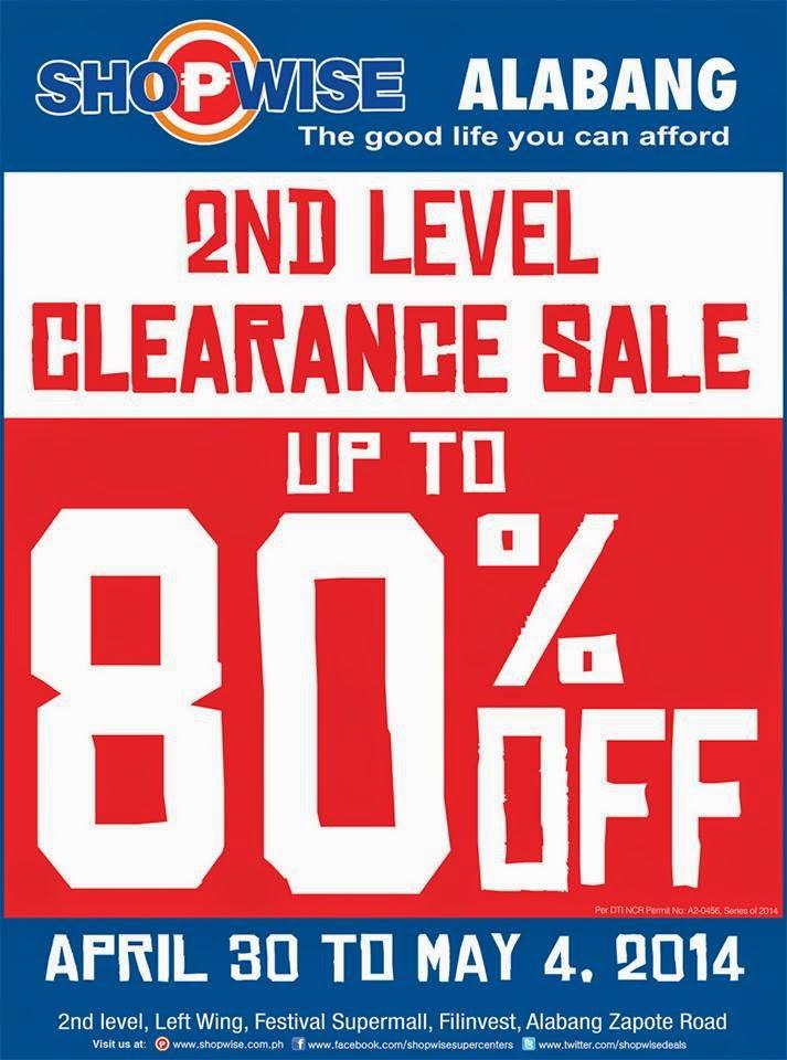 ce29033472af Manila Shopper  Shopwise Alabang Super Clearance SALE  Apr 2014