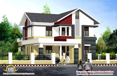 desain rumah tinggal 2 lantai minimalis