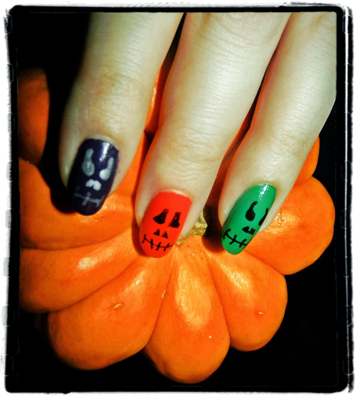 Beauty, Miscellany: Halloween Themed Nails #3 - Colourful ...