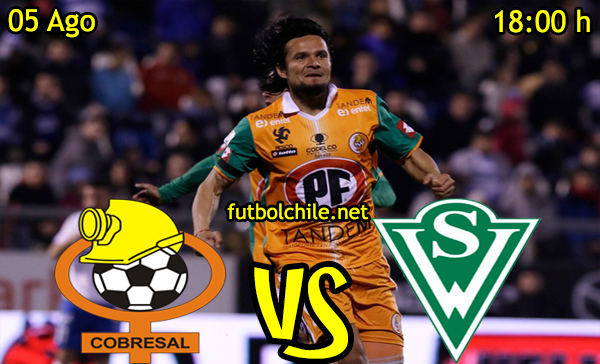 Ver stream youtube facebook movil android ios iphone table ipad windows mac linux resultado en vivo, online: Cobresal vs Santiago Wanderers