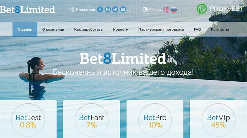 Успехи работы в Bet8 Limited