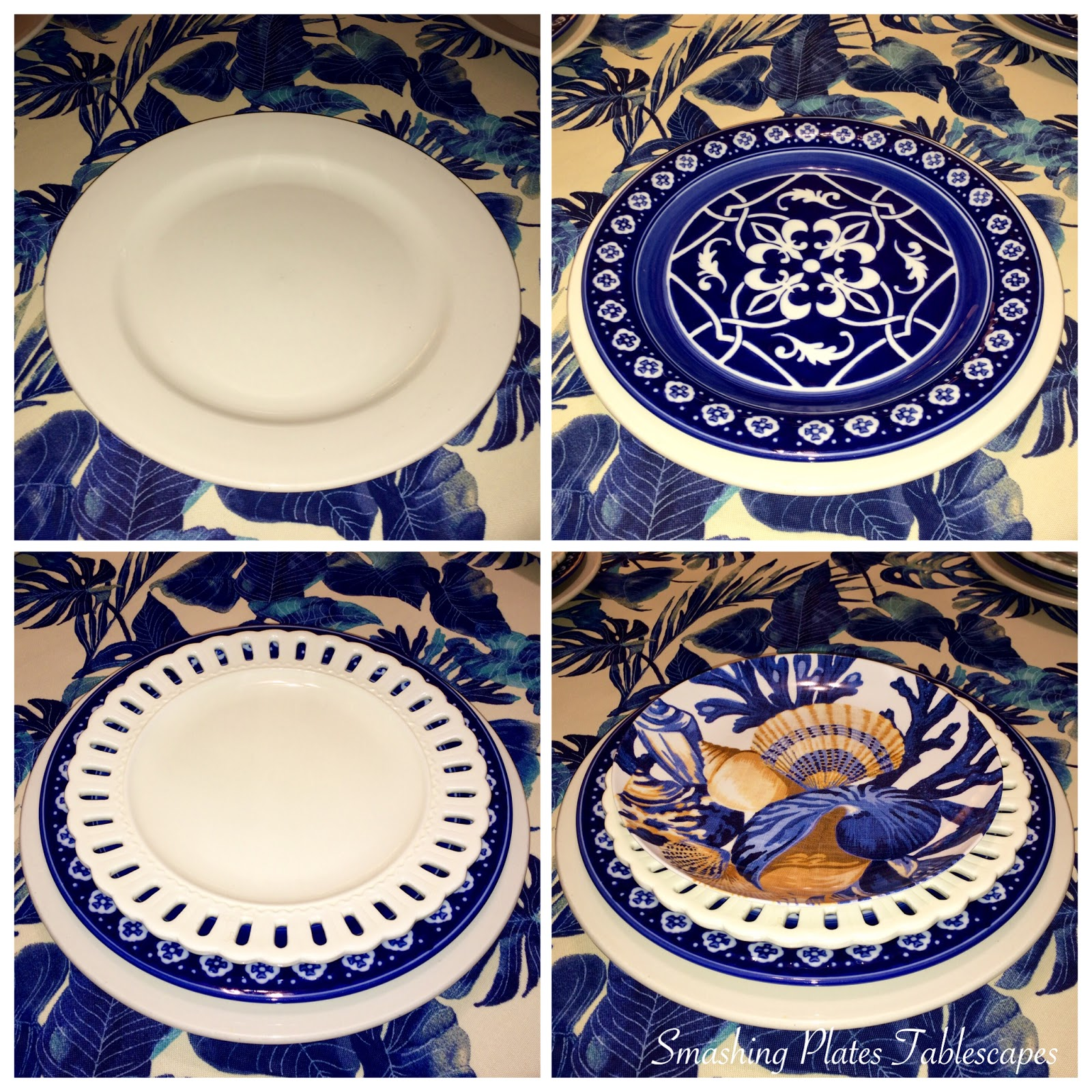 Smashing Plates Tablescapes Tommy Bahama Inky Palms