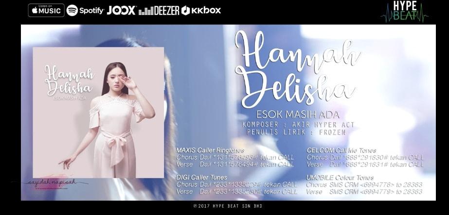 Merdu & Unik Lagu Hannah Delisha - Esok Masih Ada