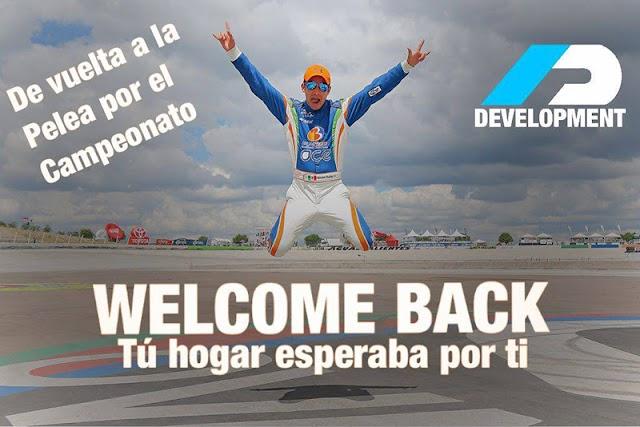 Giovanni Rodrigo vuelve a las filas de ADYA Drivers Development.