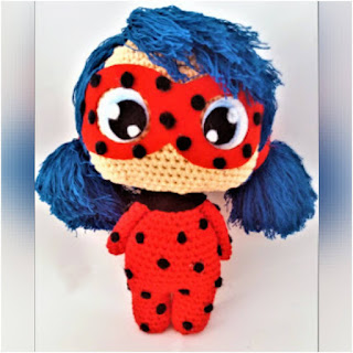 patron amigurumi LadyBug patrigurumis