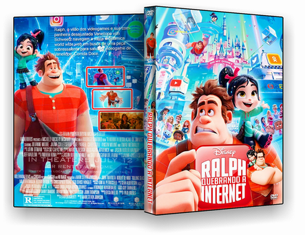 CAPA DVD – Ralph Quebrando a Internet – ISO – CINEMA
