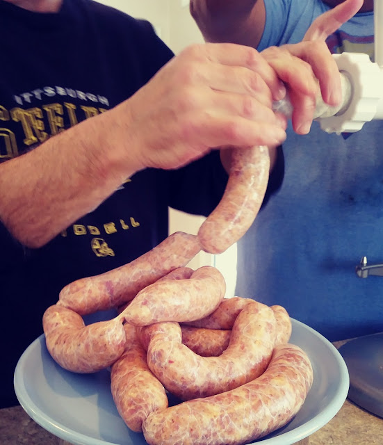making sausage links
