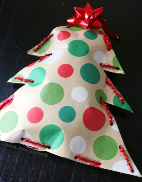 Fine Motor Skills christmas tree craft for kids