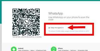 tampilan login dari whatsapp web