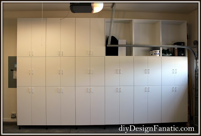 storage, garage, garage cabinets, Ikea Sektion, Ikea, Cottage, Garage Organization