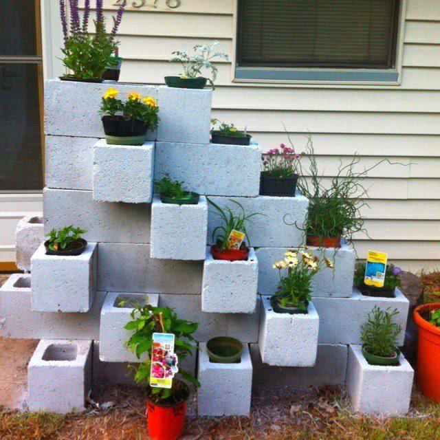 Creative DIY Cinder Blocks Ideas For Amazing Backyard ... on Backyard Cinder Block Wall Ideas id=22893