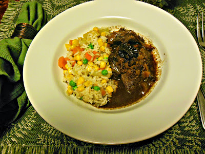 Mediterranean Beef Stew, not too sweet, not too spicy.