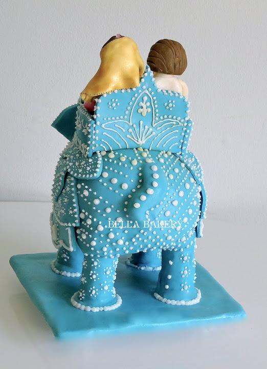 Indian Style Elephant Wedding Cake