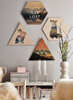 Hiasan dinding ruang tamu minimalis dari kayu