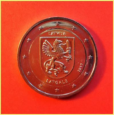 2 Euros Letonia Latgale