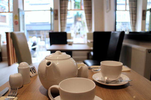 Pot of tea in a cafe in Yorkshire