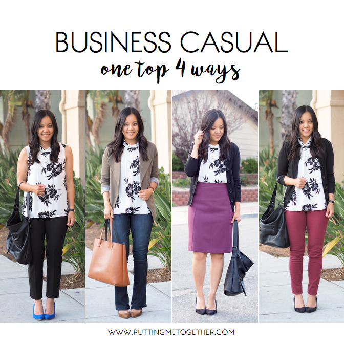 business casual outfits one top 4 ways