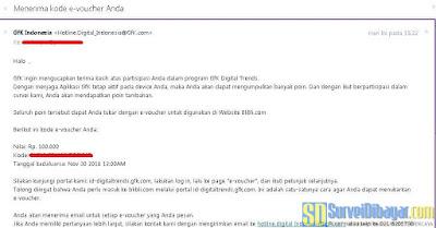 Kode voucher Blibli yang dikirimkan melalui email | SurveiDibayar.com