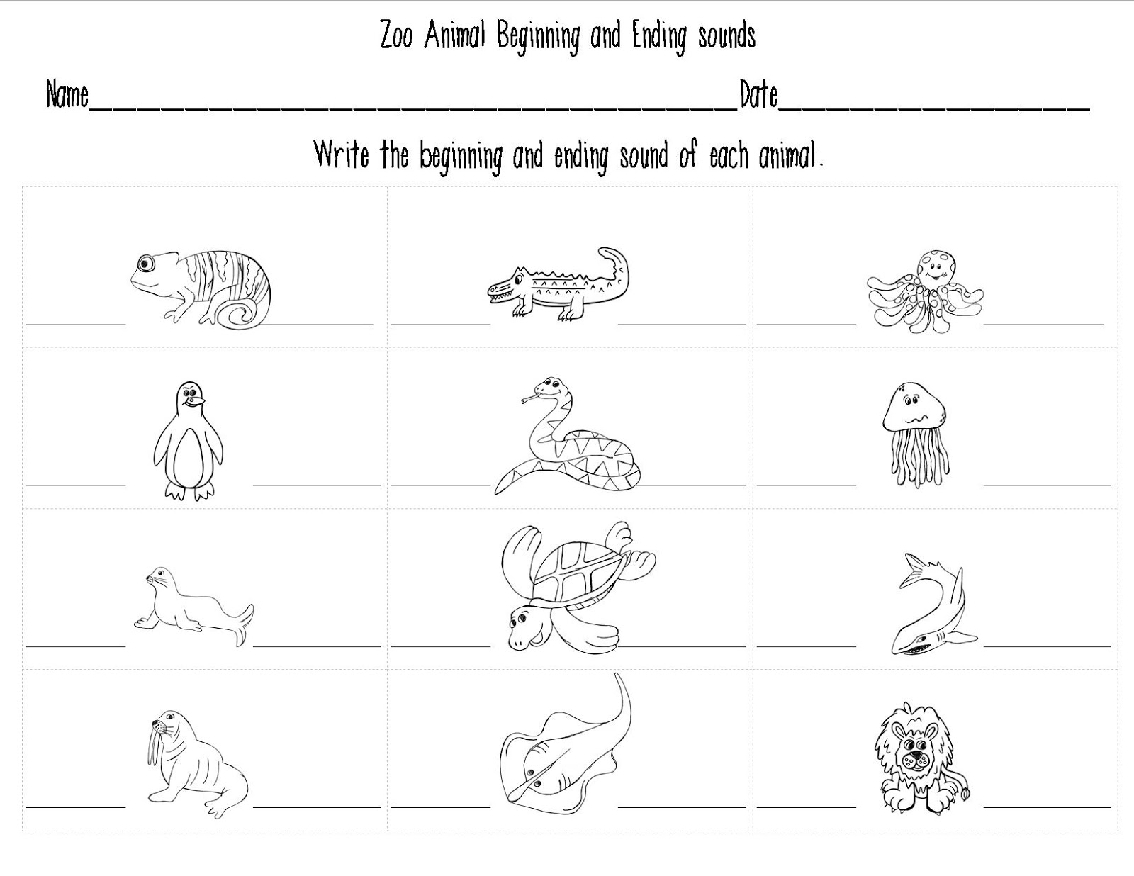Printables Zoo Phonics Worksheets collection of zoo phonics worksheets bloggakuten animal for kindergarten animals and