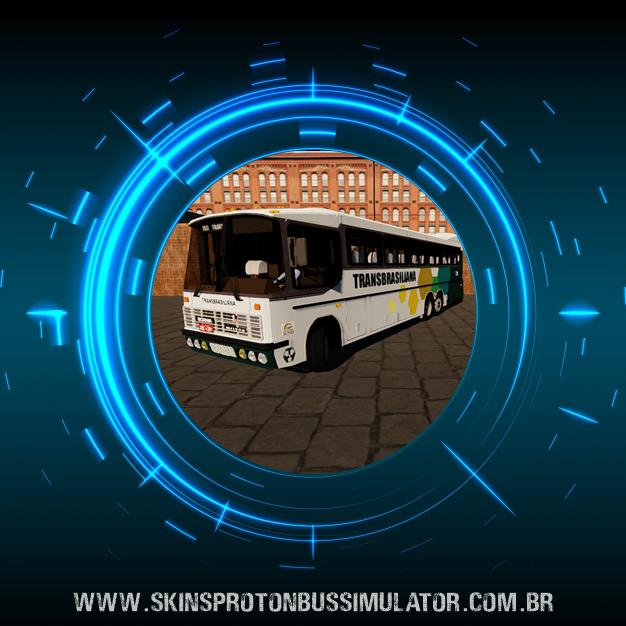 Skin Proton Bus Simulator - Nielson Diplomata 350 Scania K112 Viação Transbrasiliana