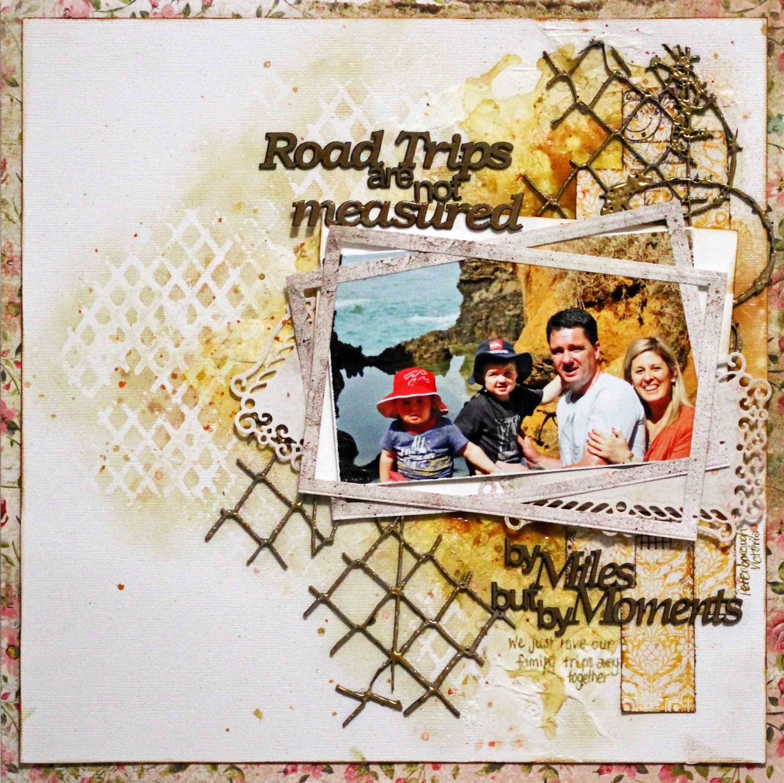 Scrapbook theme ideas - Published In Australian Scrapbook Ideas Double Layouts With A Chalk Theme