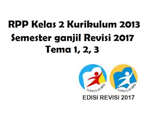 Download RPP Kelas 2 Semester ganjil Kurikulum 2013 Revisi 2017 Tema 1, 2, 3