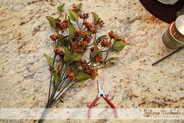 2 Blackbirds Autumn Wreath Tutorial by Juliana Michaels
