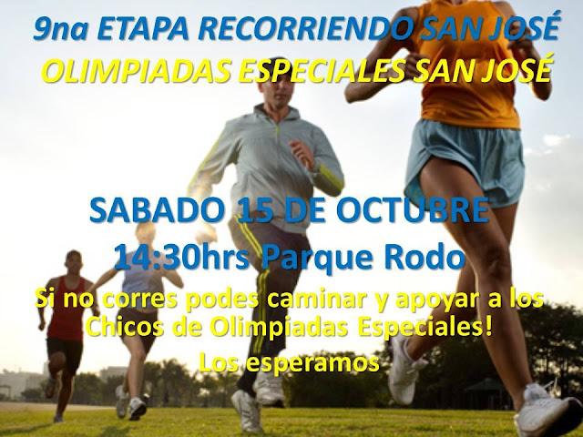 Correcaminata Olimpíadas especiales en Campeonato ReCorriendo San José (Parque Rodó, 15/oct/2016)