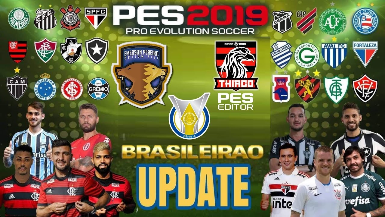 PES 2019 PS4 Option File Brasilerao Update 20/07/2019 by Thiago