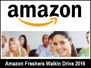 Amazon Off Campus Drive For Freshers : BE/ BTech – 2015 & 2016 Passouts
