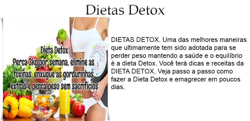 Dieta detox dicas para perder pesos