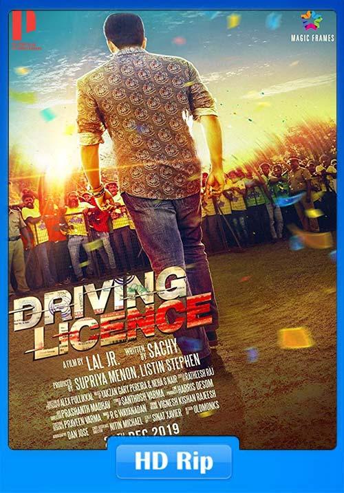 DRIVING LICENCE 2019 Malayalam HDRip 720p ESub x264   480p 300MB   100MB HEVC