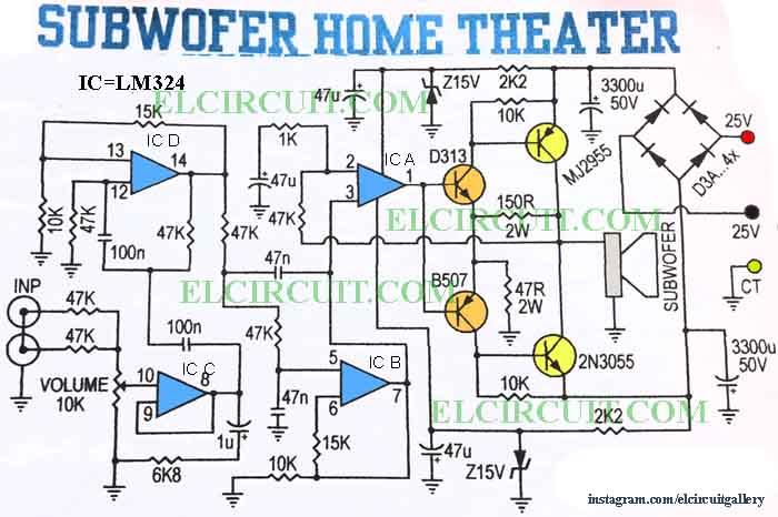 Wiring Diagram Amplifier Subwoofer - Carbonvotemuditblog \u2022