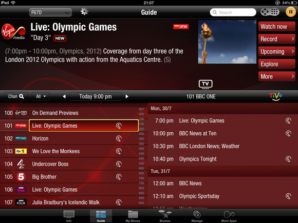 The Virgin Media TiVo Blog: First video plus more reviews