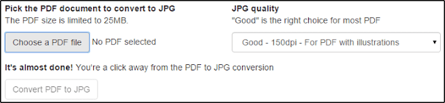 PDF to JPG Converter Interface