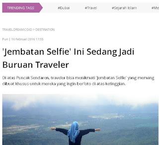 Jembatan Selfie ini jadi buruan traveller