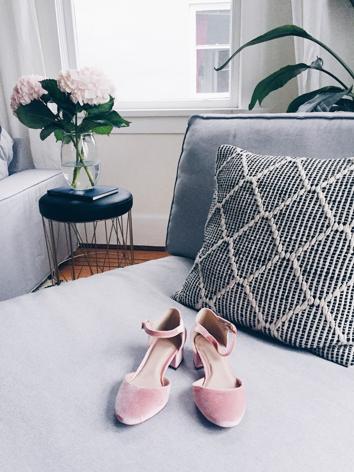 blush velvet mary jane shoes