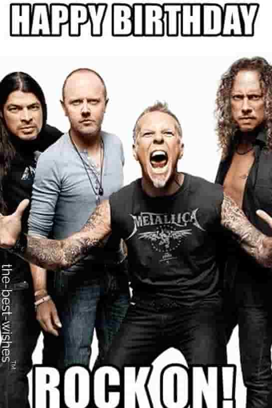 happy birthday from metallica memes rock on